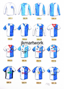 BLACKBURN ROVERS shirts print